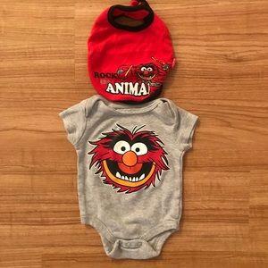 "Muppets ""Animal"" onesie Set"